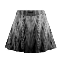 Feather Graphic Design Background Mini Flare Skirt