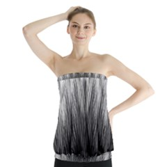 Feather Graphic Design Background Strapless Top