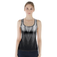 Feather Graphic Design Background Racer Back Sports Top