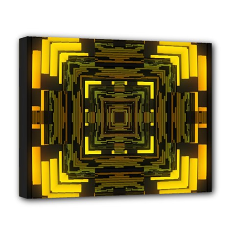 Abstract Glow Kaleidoscopic Light Deluxe Canvas 20  x 16