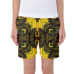 Abstract Glow Kaleidoscopic Light Women s Basketball Shorts