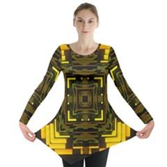 Abstract Glow Kaleidoscopic Light Long Sleeve Tunic