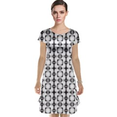Pattern Background Texture Black Cap Sleeve Nightdress