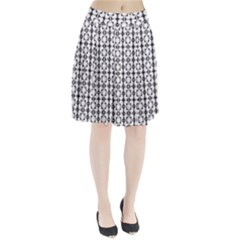 Pattern Background Texture Black Pleated Skirt