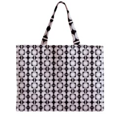 Pattern Background Texture Black Medium Tote Bag
