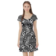 Paisley Pattern Paisley Pattern Short Sleeve Skater Dress
