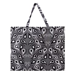 Paisley Pattern Paisley Pattern Zipper Large Tote Bag