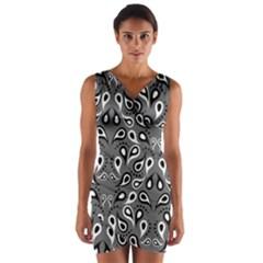 Paisley Pattern Paisley Pattern Wrap Front Bodycon Dress