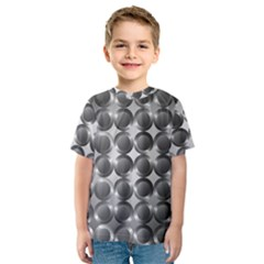 Metal Circle Background Ring Kids  Sport Mesh Tee
