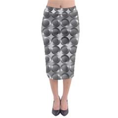 Metal Circle Background Ring Midi Pencil Skirt