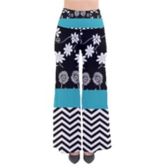 Flowers Turquoise Pattern Floral Pants