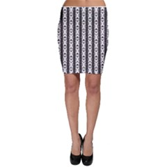 Pattern Background Texture Black Bodycon Skirt