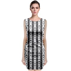Pattern Background Texture Black Classic Sleeveless Midi Dress