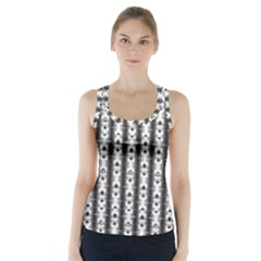 Pattern Background Texture Black Racer Back Sports Top