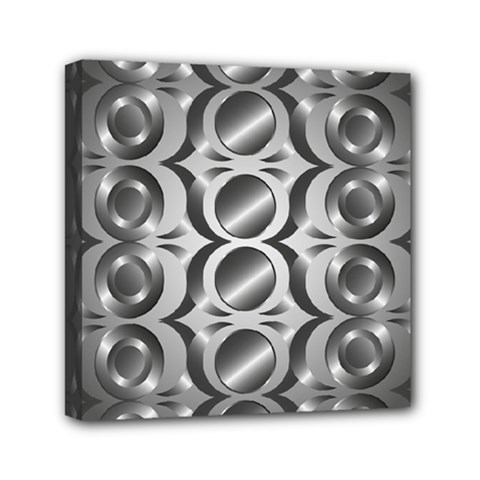 Metal Circle Background Ring Mini Canvas 6  X 6