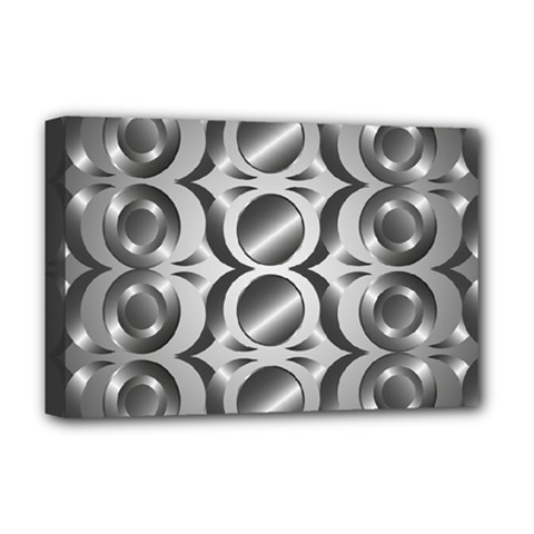 Metal Circle Background Ring Deluxe Canvas 18  x 12
