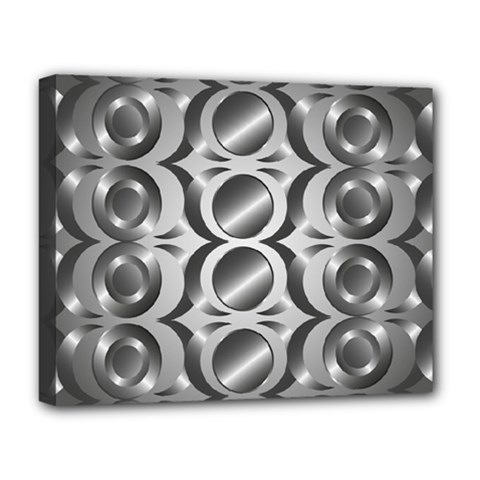 Metal Circle Background Ring Deluxe Canvas 20  X 16