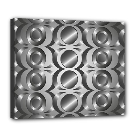 Metal Circle Background Ring Deluxe Canvas 24  X 20
