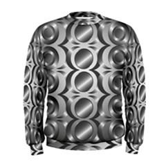 Metal Circle Background Ring Men s Sweatshirt