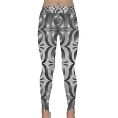 Metal Circle Background Ring Classic Yoga Leggings