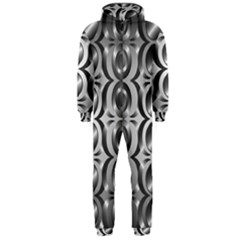 Metal Circle Background Ring Hooded Jumpsuit (men)