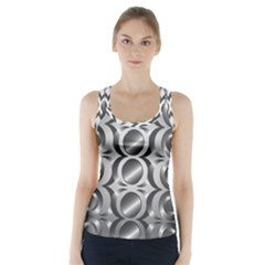 Metal Circle Background Ring Racer Back Sports Top