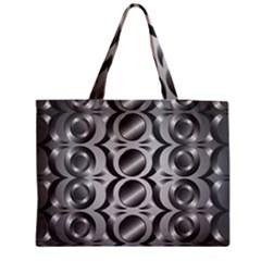 Metal Circle Background Ring Medium Tote Bag