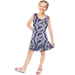 Metal Circle Background Ring Kids  Tunic Dress