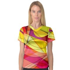 Abstract #367 Women s V-Neck Sport Mesh Tee