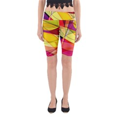 Abstract #367 Yoga Cropped Leggings