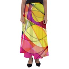 Abstract #367 Flared Maxi Skirt