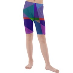 Abstract #415 Tipping Point Kids  Mid Length Swim Shorts