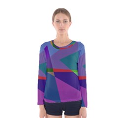 Abstract #415 Tipping Point Women s Long Sleeve Tee