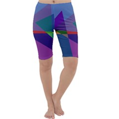 Abstract #415 Tipping Point Cropped Leggings