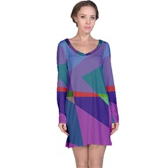 Abstract #415 Tipping Point Long Sleeve Nightdress