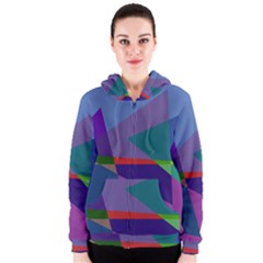 Abstract #415 Tipping Point Women s Zipper Hoodie