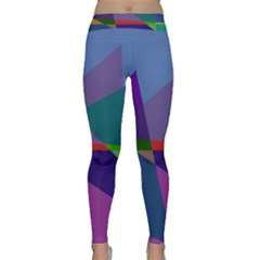 Abstract #415 Tipping Point Classic Yoga Leggings