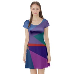 Abstract #415 Tipping Point Short Sleeve Skater Dress