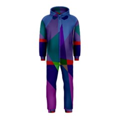 Abstract #415 Tipping Point Hooded Jumpsuit (Kids)