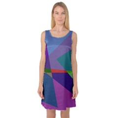 Abstract #415 Tipping Point Sleeveless Satin Nightdress