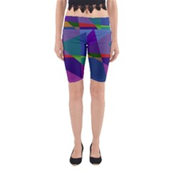 Abstract #415 Tipping Point Yoga Cropped Leggings