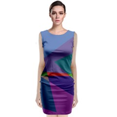 Abstract #415 Tipping Point Classic Sleeveless Midi Dress