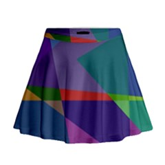 Abstract #415 Tipping Point Mini Flare Skirt