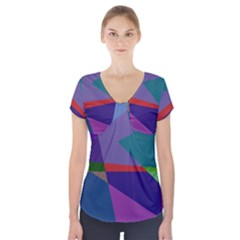 Abstract #415 Tipping Point Short Sleeve Front Detail Top