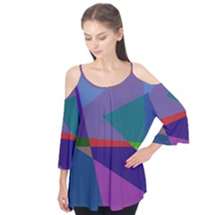 Abstract #415 Tipping Point Flutter Tees