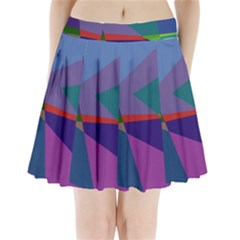Abstract #415 Tipping Point Pleated Mini Skirt