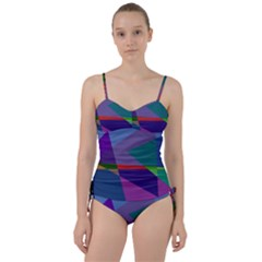 Abstract #415 Tipping Point Sweetheart Tankini Set