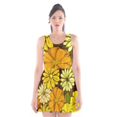 Abstract #417 Scoop Neck Skater Dress
