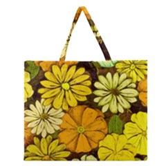 Abstract #417 Zipper Large Tote Bag