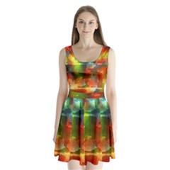 Peeled wall                   Split Back Mini Dress